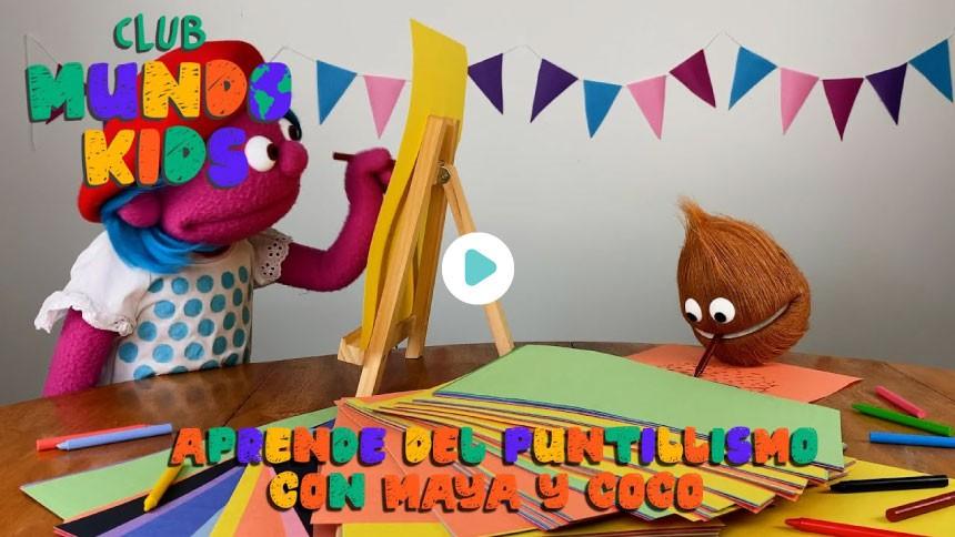 Aprende con Maya y Coco la técnica artística del puntillismo